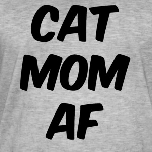 Cat mom af black - Men's Vintage T-Shirt