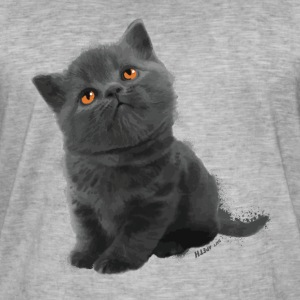 The British Shorthair - Cute Kitten - Men's Vintage T-Shirt