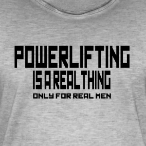 REAL THING powerlifting - Men's Vintage T-Shirt