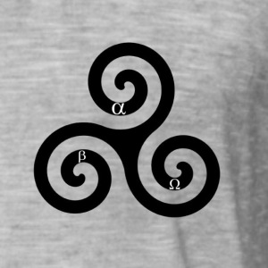 alpha beta omega triskelion - Men's Vintage T-Shirt