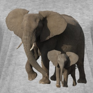 elefant - Vintage-T-skjorte for menn
