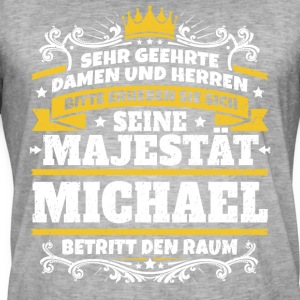 His Majesty Michael - Men's Vintage T-Shirt