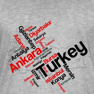 Turkey cities - Men's Vintage T-Shirt