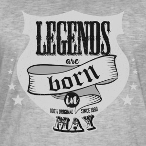 Legends are born in May birthday present - Men's Vintage T-Shirt