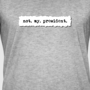 Not my president, newspaper torn page t shirt - Men's Vintage T-Shirt