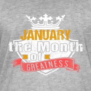 Month of Greatness JANUARY - Men's Vintage T-Shirt