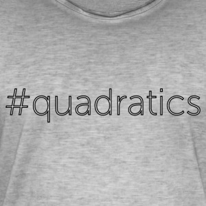 quadratics - Vintage-T-skjorte for menn