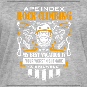 ApeIndex Rock Climbing Orange - Mannen Vintage T-shirt
