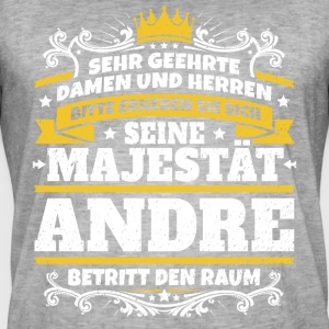 His Majesty Andre - Mannen Vintage T-shirt