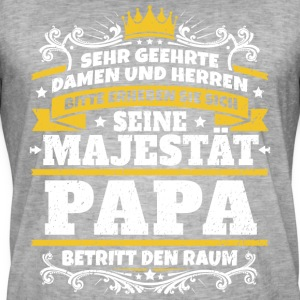 His Majesty Papa - Men's Vintage T-Shirt