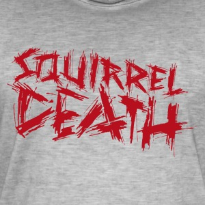 Squirrel DEATH - Logo rød - Vintage-T-skjorte for menn