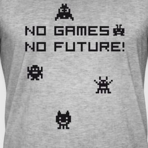 no games no future Nerd 8bit pc geek tetris Play l - Männer Vintage T-Shirt