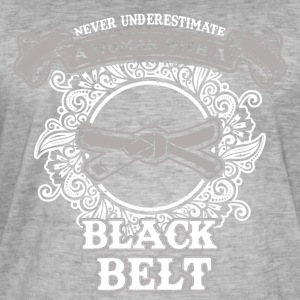 No woman with black belt - Men's Vintage T-Shirt