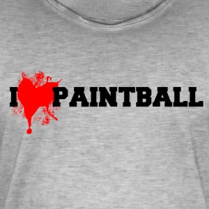paintball - Camiseta vintage hombre