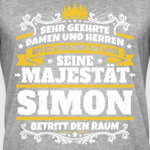 His Majesty Simon - Men's Vintage T-Shirt