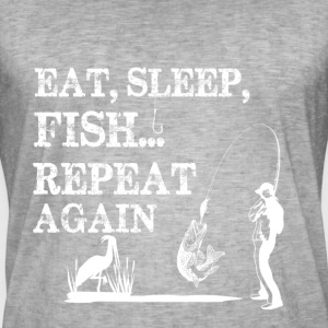 FISKE EAT sleap - Vintage-T-skjorte for menn