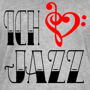 I love jazz - Mannen Vintage T-shirt