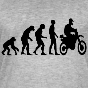 Human Evolution Enduro - T-shirt vintage Homme
