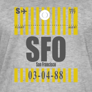 San Francisco Airport - Vintage-T-skjorte for menn