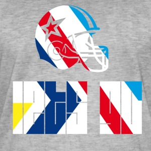 football_Helm Go game Fan touchdown lets go - Men's Vintage T-Shirt