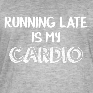 Late on, my cardio is funny - Men's Vintage T-Shirt