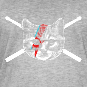chat batteur - T-shirt vintage Homme
