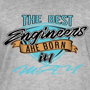 Best Engineers Born In MAY - Men's Vintage T-Shirt