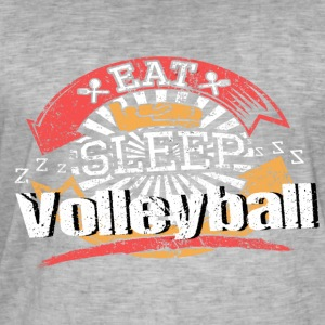 Eat Sleep Volleyboll - Vintage-T-shirt herr