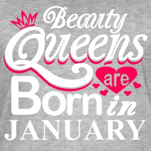 Beauty Queens Born in January - Men's Vintage T-Shirt