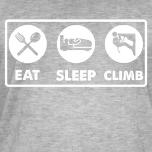 Eat Sleep Klatring - Herre vintage T-shirt