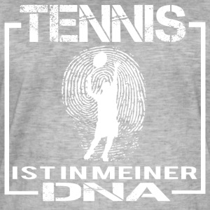 TENNIS DNA - Männer Vintage T-Shirt