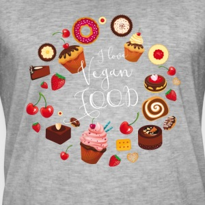 Vegan food cake pie muffin cupcake sweet Donat - Men's Vintage T-Shirt