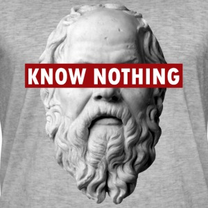 KNOW NOTHING SOCRATES - Men's Vintage T-Shirt
