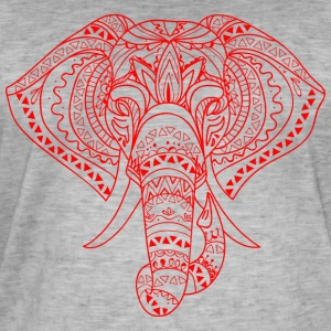 Elephant Head red - Vintage-T-shirt herr