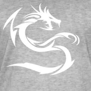Snø White Dragon - Vintage-T-skjorte for menn