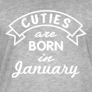 Cuties are born in January - Männer Vintage T-Shirt