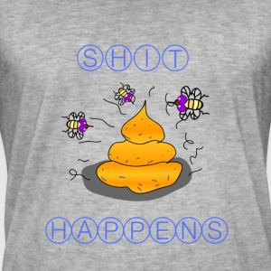 SHIT HAPPENS printed on shirts / Hoodies - Men's Vintage T-Shirt