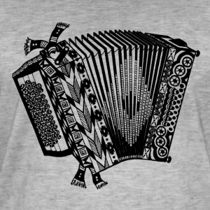 accordéon - T-shirt vintage Homme