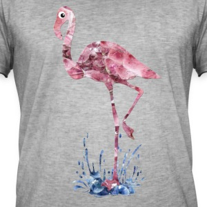 flamingo rosa krystaller Press - Vintage-T-skjorte for menn