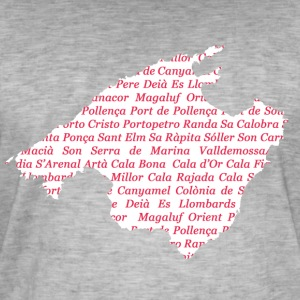 Mallorca map of where Pink - Men's Vintage T-Shirt