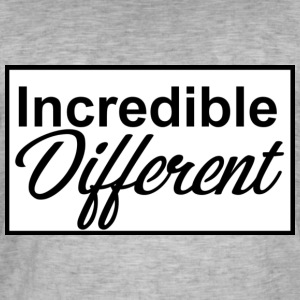 icredibledifferent_logo - T-shirt vintage Homme