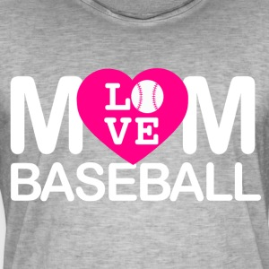 Mom love baseball - Männer Vintage T-Shirt