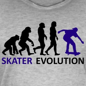 ++ ++ Skater Evolution - Herre vintage T-shirt