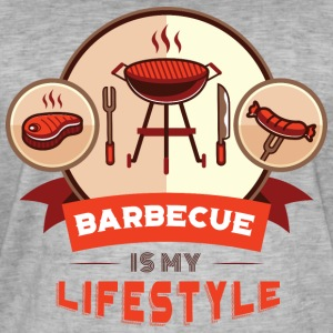 BBQ IS MY LIFESTYLE - Männer Vintage T-Shirt