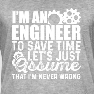 engineering skjorta - Vintage-T-shirt herr