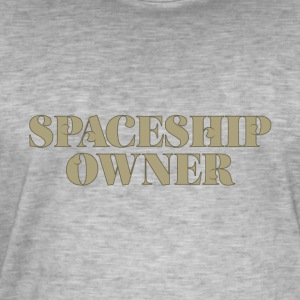 Spaceship Ejer - science fiction - Herre vintage T-shirt