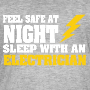 Sleep with an ELECTRICIAN - Men's Vintage T-Shirt