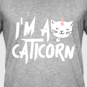 Caticorn - T-shirt vintage Homme