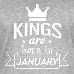 KINGS geboren in januari - Mannen Vintage T-shirt