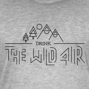 Wild Air - Vintage-T-skjorte for menn